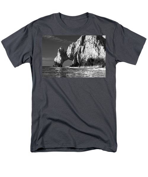 The Arch Cabo San Lucas In Black And White Men's T-Shirt  (Regular Fit) by Sebastian Musial