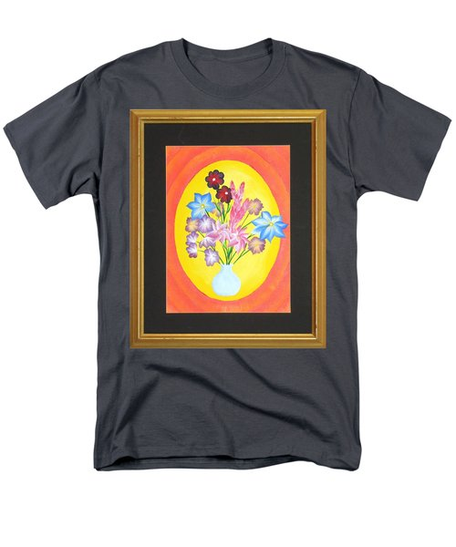 Men's T-Shirt  (Regular Fit) featuring the painting The Bud Vase by Ron Davidson