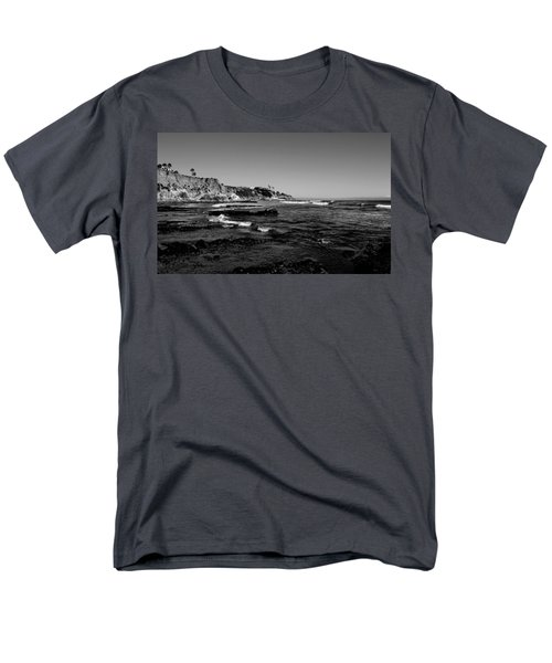 The Cliffs Of Pismo Beach Bw Men's T-Shirt  (Regular Fit) by Judy Vincent