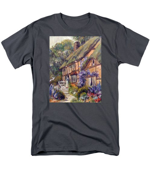 Men's T-Shirt  (Regular Fit) featuring the painting The Cottage by Donna Tucker