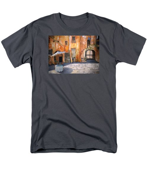 Men's T-Shirt  (Regular Fit) featuring the painting The Courtyard by Alan Lakin
