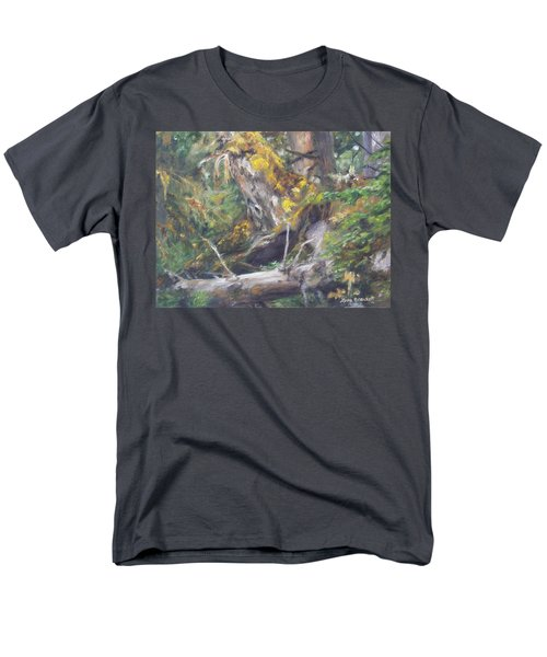 Men's T-Shirt  (Regular Fit) featuring the painting The Crying Log by Lori Brackett