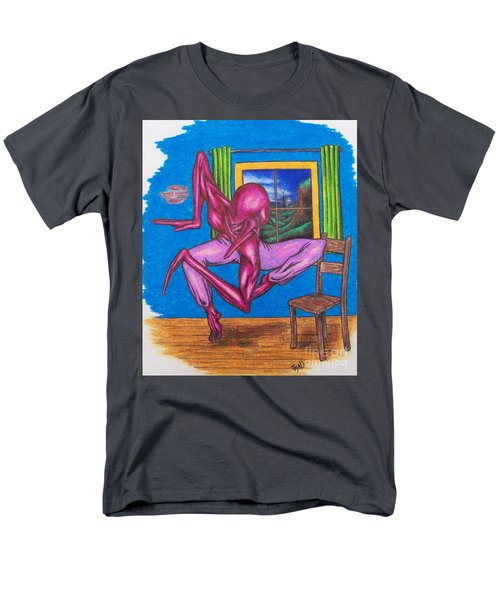 Men's T-Shirt  (Regular Fit) featuring the drawing The Dancer by Michael  TMAD Finney