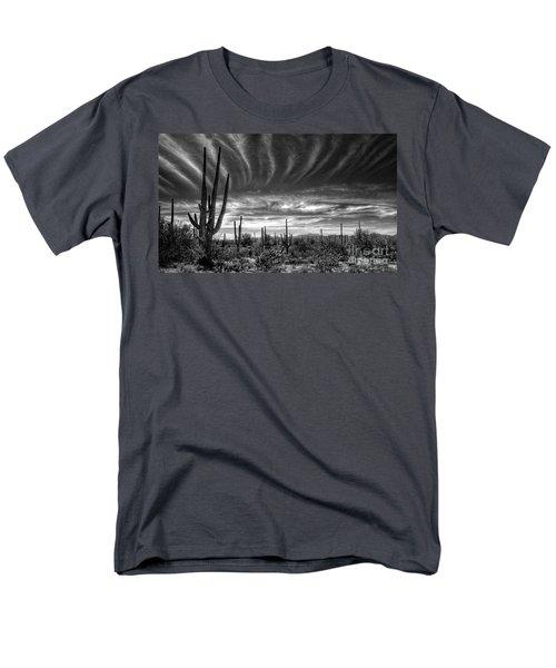 The Desert In Black And White Men's T-Shirt  (Regular Fit) by Saija  Lehtonen