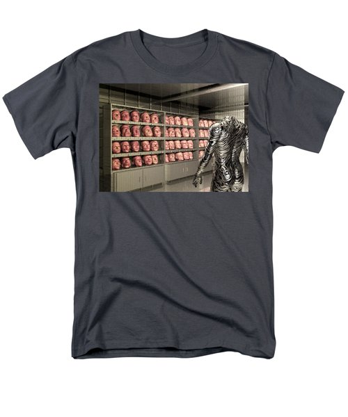 Men's T-Shirt  (Regular Fit) featuring the digital art The Doppleganger by John Alexander
