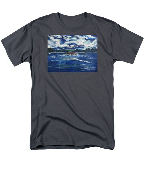 Men's T-Shirt  (Regular Fit) featuring the painting The Enchanting Sea  by Lori  Lovetere