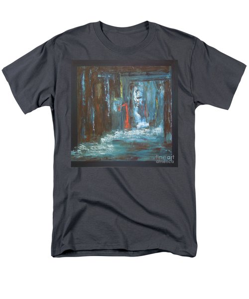 Men's T-Shirt  (Regular Fit) featuring the painting The Free Passage by Mini Arora