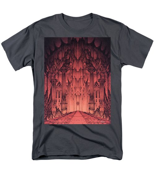 Men's T-Shirt  (Regular Fit) featuring the mixed media The Gates Of Barad Dur by Curtiss Shaffer