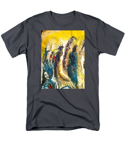 Men's T-Shirt  (Regular Fit) featuring the painting The Gathering by Kicking Bear  Productions