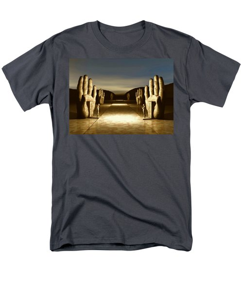 Men's T-Shirt  (Regular Fit) featuring the digital art The Great Divide by John Alexander