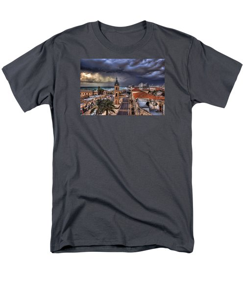 the Jaffa old clock tower Men's T-Shirt  (Regular Fit) by Ronsho