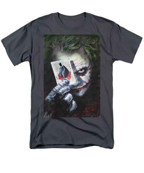 The Joker Heath Ledger  Men's T-Shirt  (Regular Fit) by Viola El