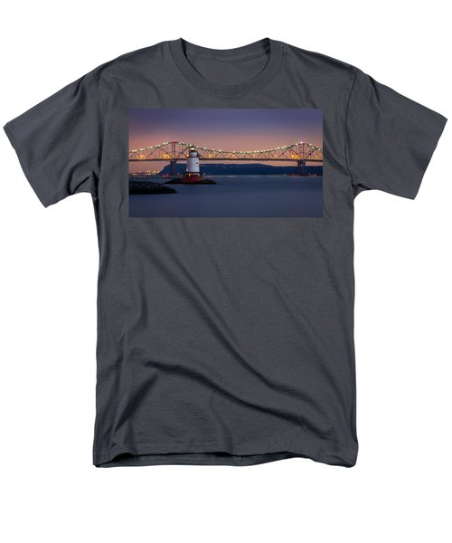 Men's T-Shirt  (Regular Fit) featuring the photograph The Little White Lighthouse by Mihai Andritoiu