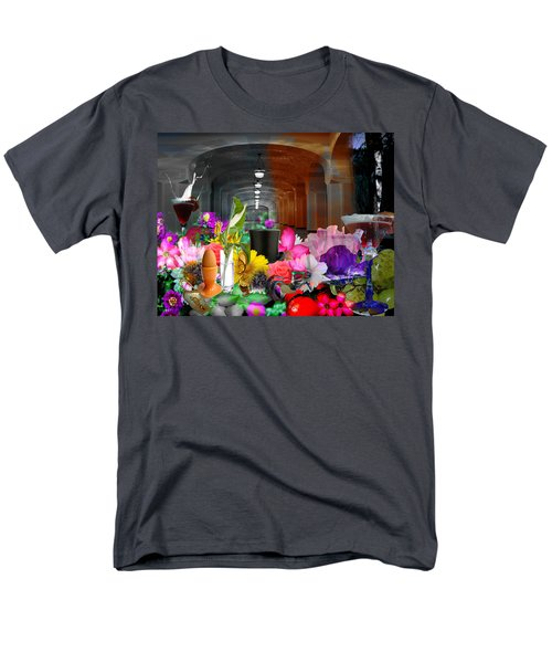Men's T-Shirt  (Regular Fit) featuring the digital art The Long Collage by Cathy Anderson