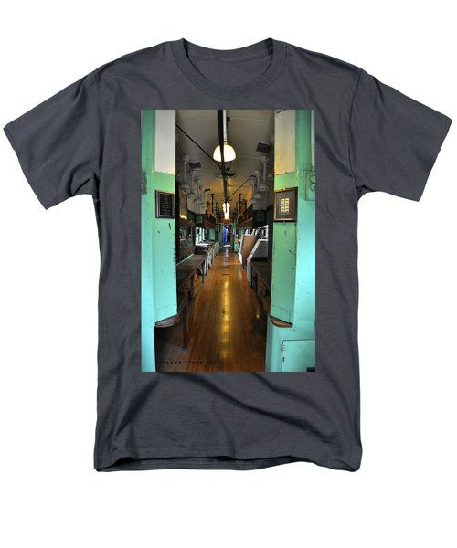 Men's T-Shirt  (Regular Fit) featuring the photograph The Mail Car From The Series View Of An Old Railroad by Verana Stark