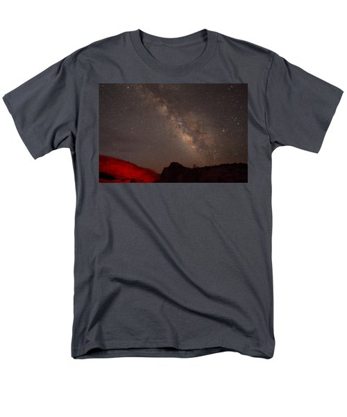 The Milky Way Over Mesa Arch Men's T-Shirt  (Regular Fit) by Alan Vance Ley