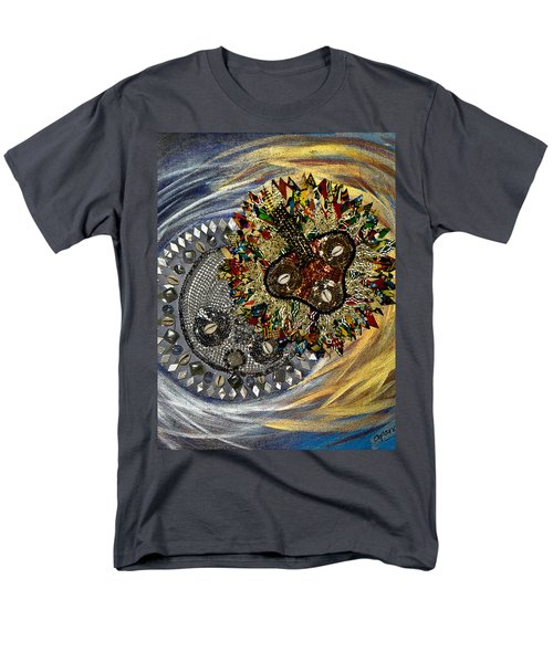 Men's T-Shirt  (Regular Fit) featuring the tapestry - textile The Moon's Eclipse by Apanaki Temitayo M