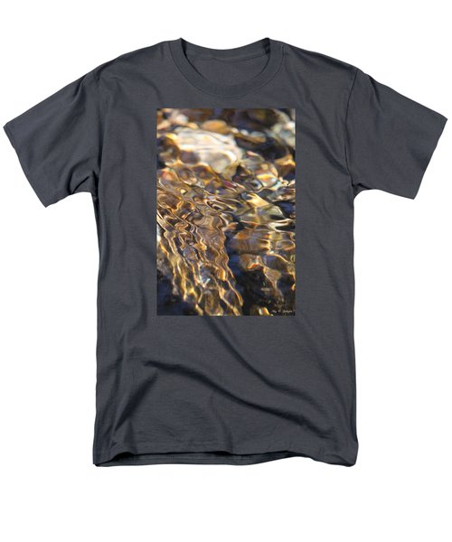 Men's T-Shirt  (Regular Fit) featuring the photograph The Music And Motion Of Water by Amy Gallagher