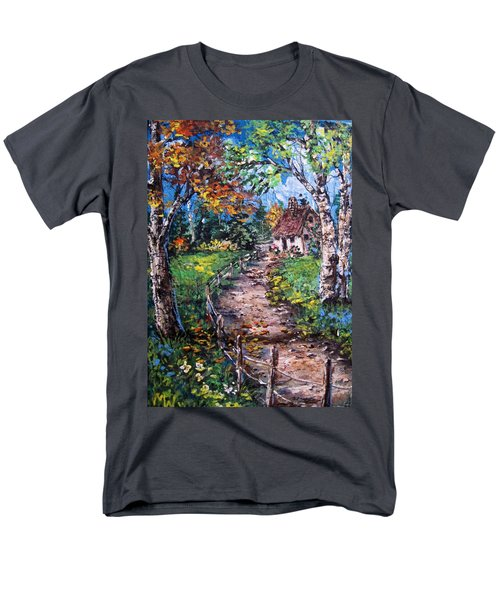 Men's T-Shirt  (Regular Fit) featuring the painting The Old Homestead by Megan Walsh