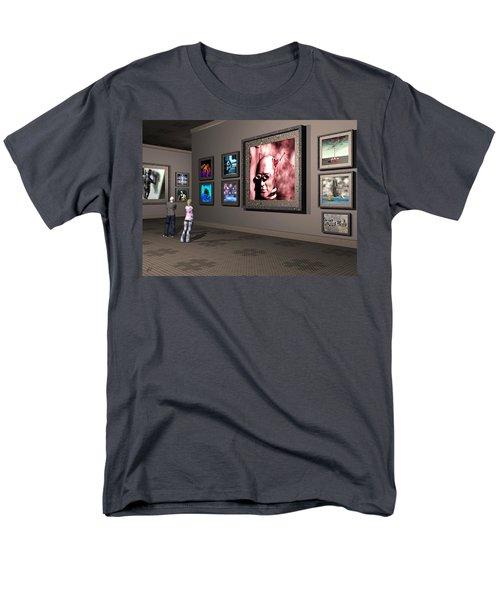 Men's T-Shirt  (Regular Fit) featuring the digital art The Old Museum by John Alexander