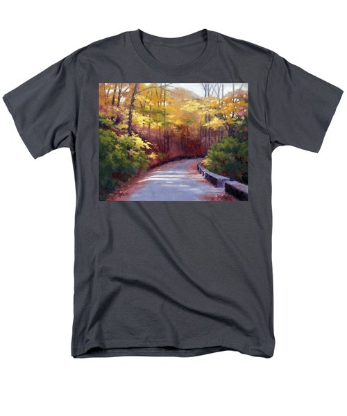 Men's T-Shirt  (Regular Fit) featuring the painting The Old Roadway In Autumn II by Janet King