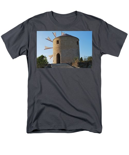 The Old Windmill 1830 Men's T-Shirt  (Regular Fit) by George Katechis