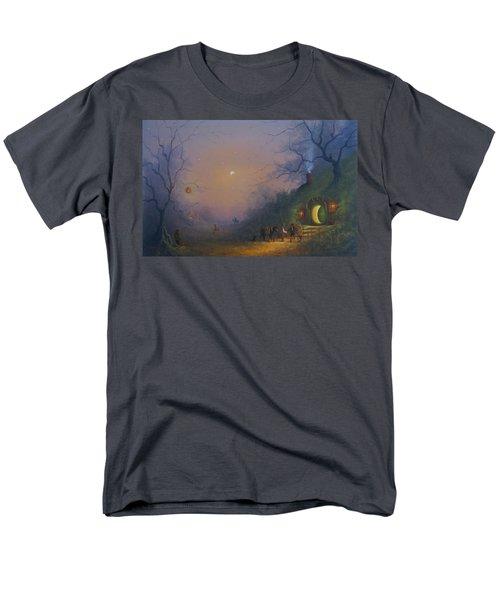 A Hobbits Halloween. The Pumpkin Seller. Men's T-Shirt  (Regular Fit) by Joe Gilronan