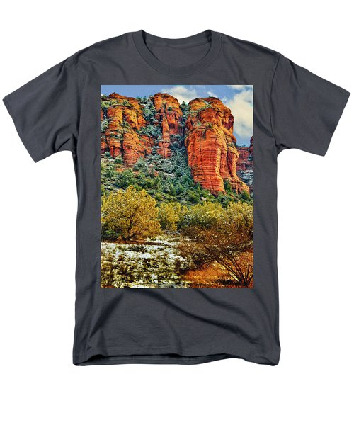 Men's T-Shirt  (Regular Fit) featuring the photograph The Secret Mountain Wilderness In Sedona Back Country by Bob and Nadine Johnston