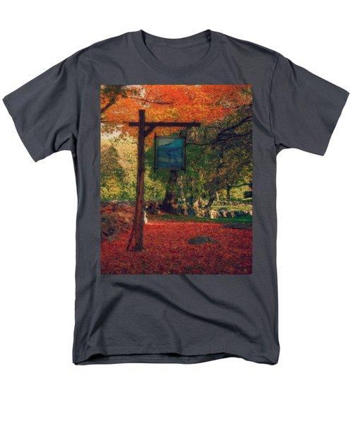 The Sign Of Fall Colors Men's T-Shirt  (Regular Fit) by Jeff Folger