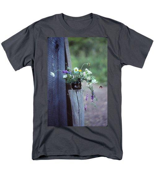 The Still Life Of Wild Flowers Men's T-Shirt  (Regular Fit) by Patricia Keller