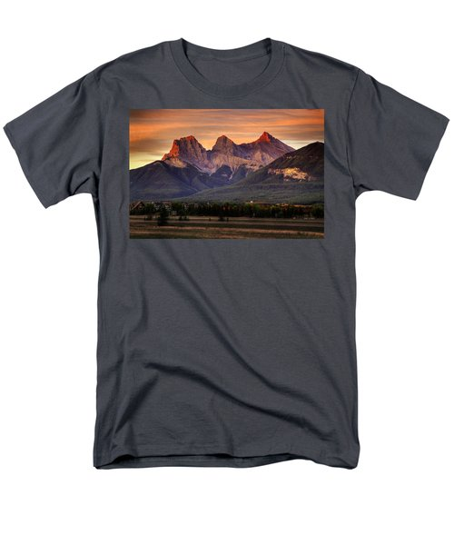 The Three Sisters Canmore Men's T-Shirt  (Regular Fit) by Diane Dugas