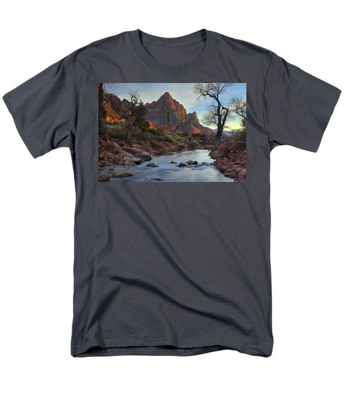 The Watchman In Winter-2 Men's T-Shirt  (Regular Fit) by Alan Vance Ley