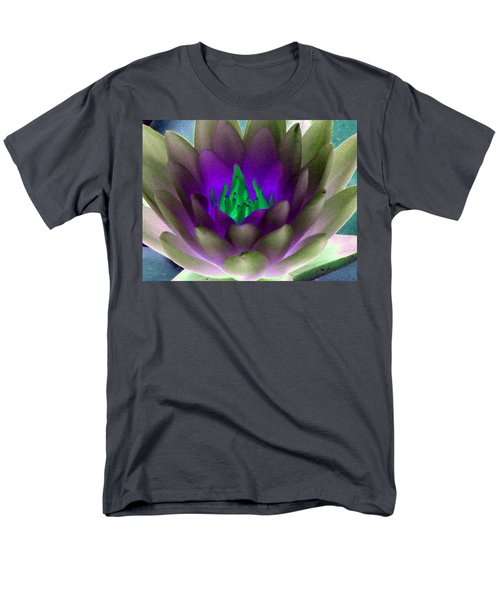 Men's T-Shirt  (Regular Fit) featuring the photograph The Water Lilies Collection - Photopower 1117 by Pamela Critchlow