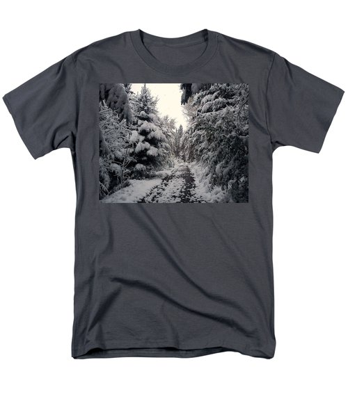 Men's T-Shirt  (Regular Fit) featuring the photograph The Way In Snow by Felicia Tica