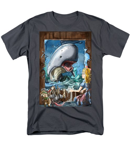 Men's T-Shirt  (Regular Fit) featuring the painting The Whale by Reynold Jay