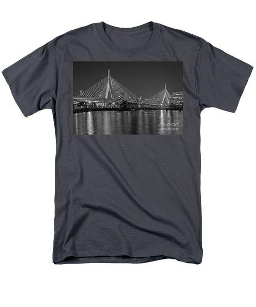 The Zakim Bridge Bw Men's T-Shirt  (Regular Fit) by Susan Candelario
