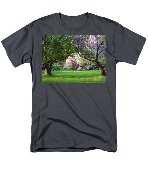 Men's T-Shirt  (Regular Fit) featuring the photograph There Is No Place Like Spring by Judy Via-Wolff