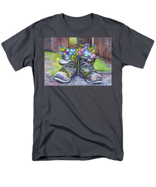 These Boots Were Made For Planting Men's T-Shirt  (Regular Fit) by Carol Wisniewski