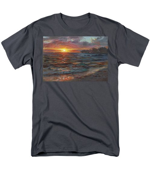 Through The Vog - Hawaii Beach Sunset Men's T-Shirt  (Regular Fit) by Karen Whitworth