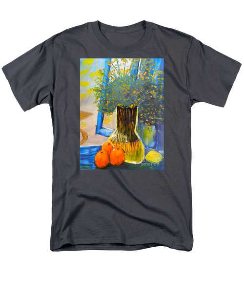 Men's T-Shirt  (Regular Fit) featuring the painting Through The Window by Pamela  Meredith