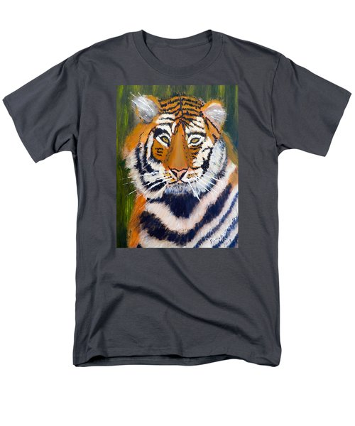 Men's T-Shirt  (Regular Fit) featuring the painting Tiger by Pamela  Meredith