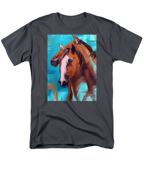 Men's T-Shirt  (Regular Fit) featuring the painting Together 1 by Go Van Kampen