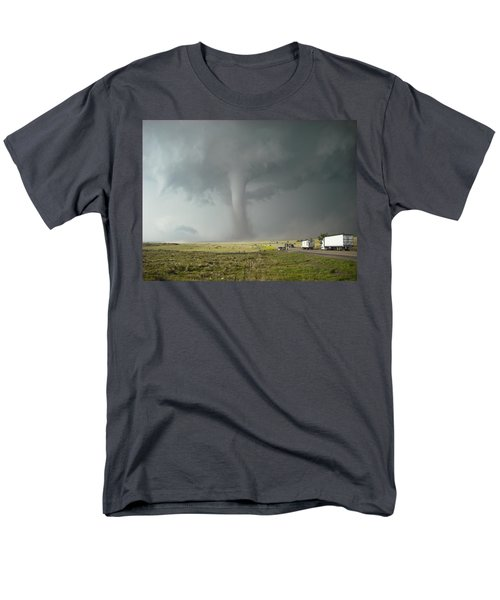 Tornado Truck Stop Men's T-Shirt  (Regular Fit) by Ed Sweeney