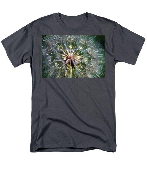 Men's T-Shirt  (Regular Fit) featuring the photograph Tragopogon Dubius Yellow Salsify Flower Fruit Seed by Karon Melillo DeVega