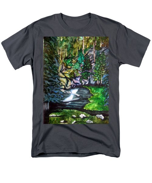 Men's T-Shirt  (Regular Fit) featuring the painting Trail To Broke-off by Lil Taylor