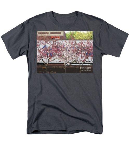 Men's T-Shirt  (Regular Fit) featuring the photograph Train Tracks by Michael Krek