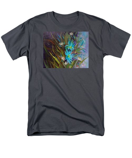 Tropical Blue Men's T-Shirt  (Regular Fit) by Jenny Lee
