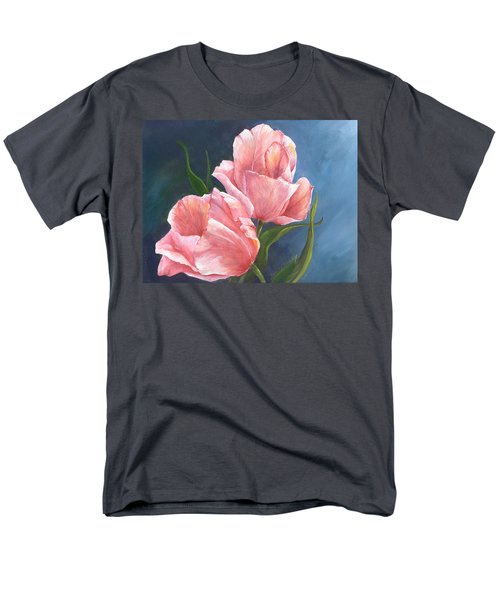 Men's T-Shirt  (Regular Fit) featuring the painting Tulip Waltz by Sherry Shipley