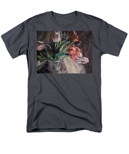 Men's T-Shirt  (Regular Fit) featuring the painting Tulips by Donna Tuten