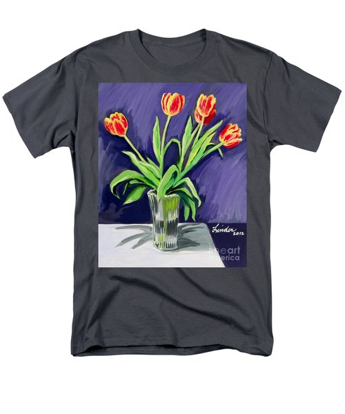 Tulips On The Table Men's T-Shirt  (Regular Fit)